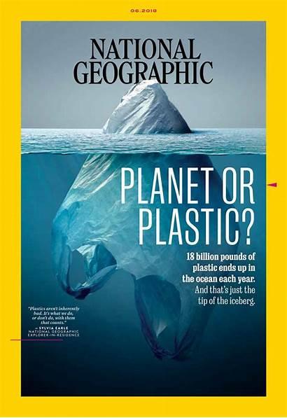 Geographic National June Magazine Nation Planet Plastic