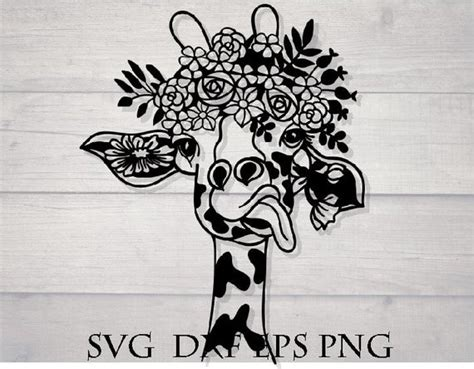 These designs are very detailed and the weeding can be very difficult when dealing. Giraffe flower svg flower crown svg animal mandala svg   Etsy