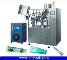 automatic rotary indexing type single head tube filling  sealing  crimping machine