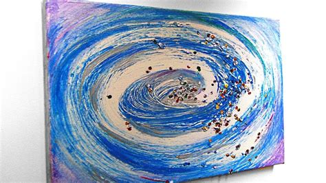 wirbel abstrakt malen mit acryl whirl abstract painting