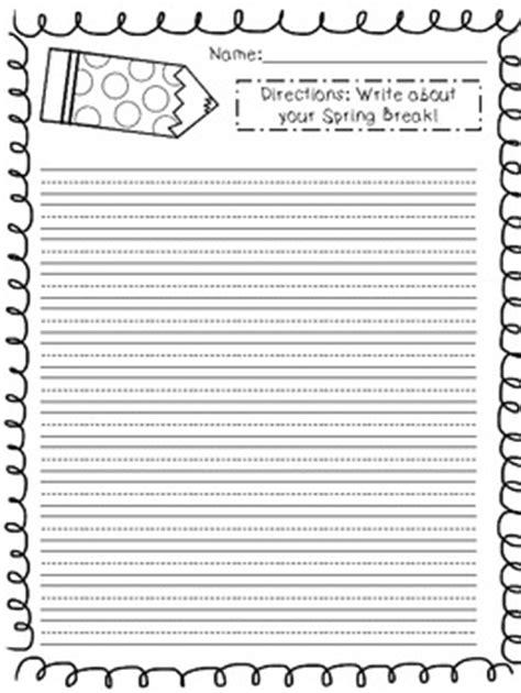 freebie spring break writing paper  cassie carr tpt