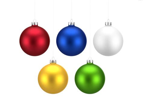colorful christmas balls set png psdfinder co