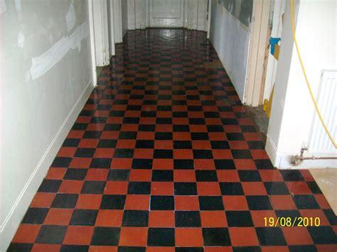 quarry tile floor restoration at a school in leatherhead
