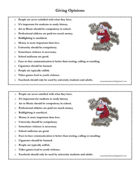 149 free opinions worksheets