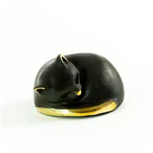 cat figure walter bosse brass cat figurine katze modern vienna