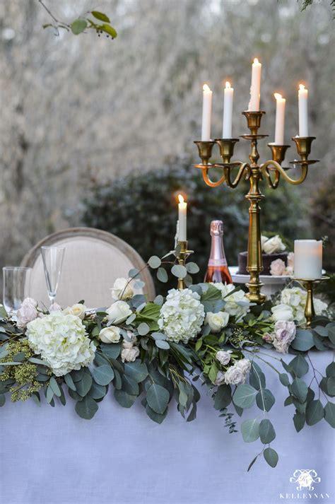 Romantic Outdoor Sweetheart Table Head table wedding