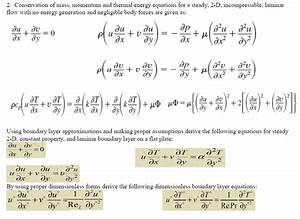 Solved: Conservation Of Mass, Momentum And Thermal Energy ...