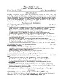 technical resume format free technical editor resume