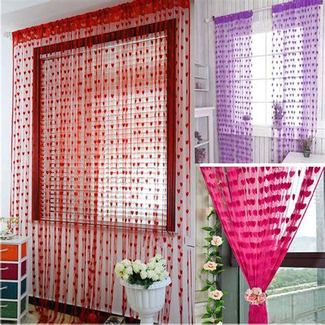 Jasa Pengiriman Barang Surabaya Tirai Benang Cantik Motif Love Korean Style Gorden