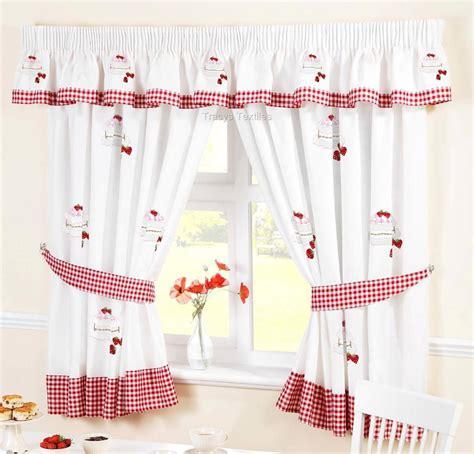 white kitchen curtains strawberry sponge cake white kitchen curtains ebay