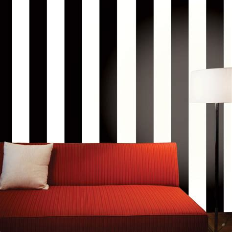 Permalink to Black And White Stripe Self Adhesive Wallpaper
