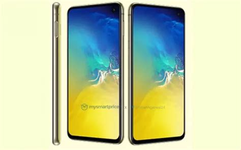 samsung galaxy se shown   bright canary yellow color