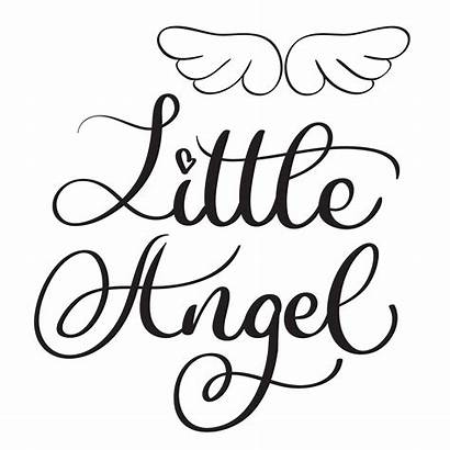 Calligraphy Angel Words Hand Drawn Background Lettering