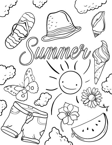 Pin By Muse Printables On Coloring Pages At Coloringcafecom  Pinterest  Summer Coloring Pages