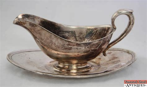Gravy Boat Yacht by Vintage Gorhan Silver Plate Gravy Sauce Boat With Attached