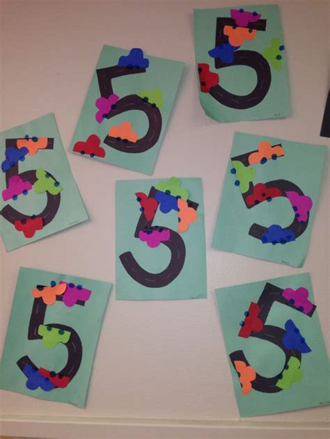 crafts actvities and worksheets for preschool toddler and 978 | number 5 craft idea
