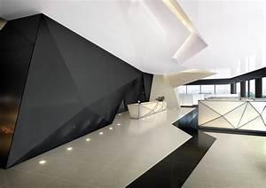 Futuristic Interior, HI-MACS. The geometric design used ...