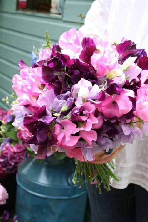 wedding wednesday sweet pea bouquets flirty fleurs