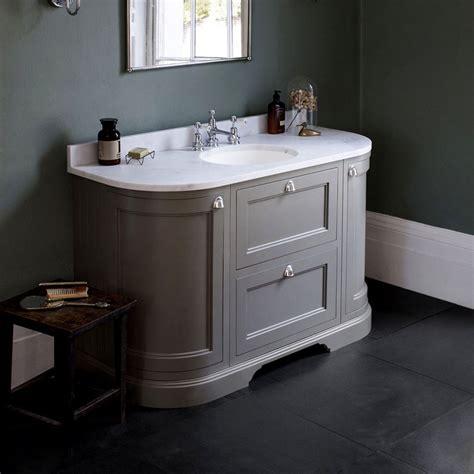 Bathroom Vanity Units - burlington 134 curved vanity unit with doors