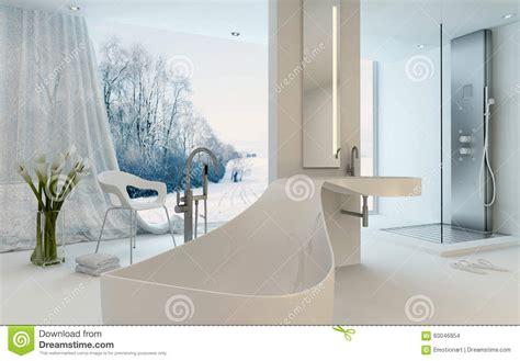 modern bathroom interior design ultra modern design bathroom interior with bathtub stock Ultra