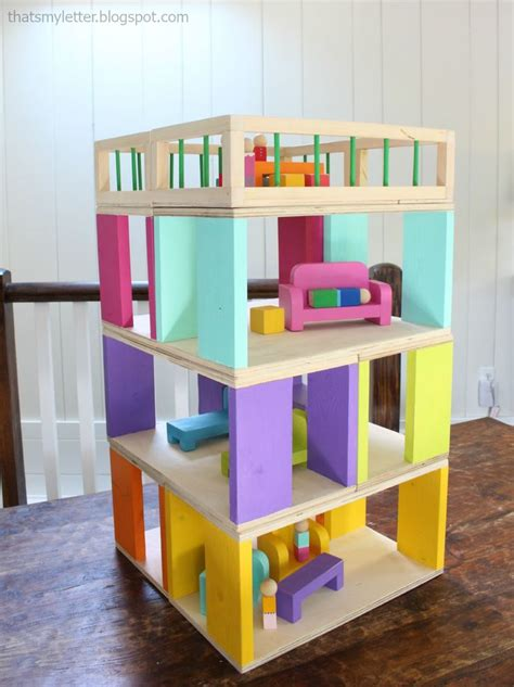 modular stackable dollhouse   easy diy project