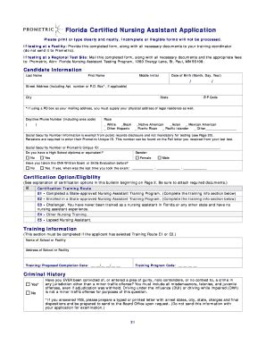 In the state of florida, insurance licensing courses can be completed in an online format. Blank Cna Application - Fill Online, Printable, Fillable ...