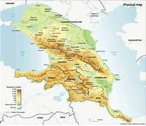 Caucasus Mountains Map