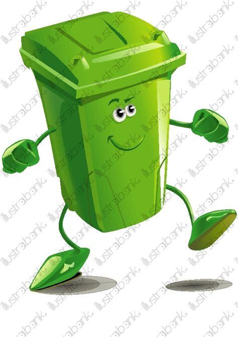 poubelle de cuisine verte poubelle verte de tri sélectif illustration libre de droit