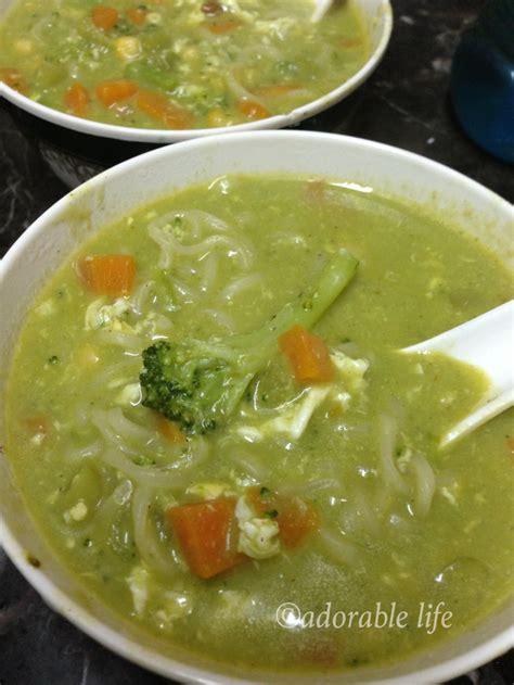 egg noodle soup creamy broccoli egg noodle soup