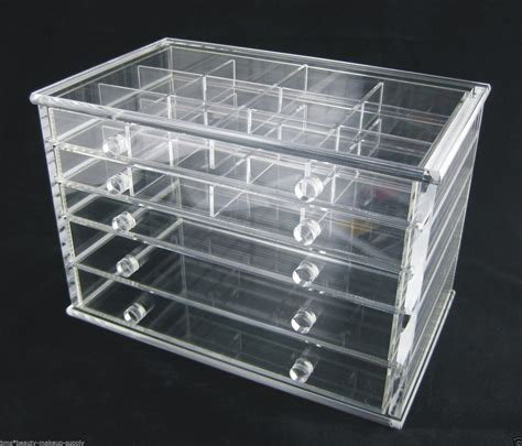 acrylic drawer organizer clear acrylic 5 drawer counter top storage organizer 5692