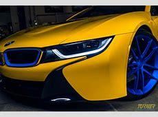 Turner Motorsport BMW i8 TuningProjekt in Blau & Gelb