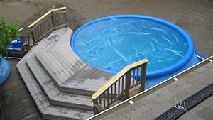 Easy Set Pool : shallow end for above ground pool landscape ideas pinterest ground pools solar pool cover ~ Orissabook.com Haus und Dekorationen