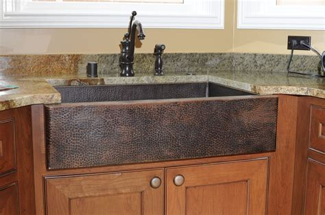 copper farmhouse kitchen sinks beautiful hammered 14 copper farmhouse kitchen