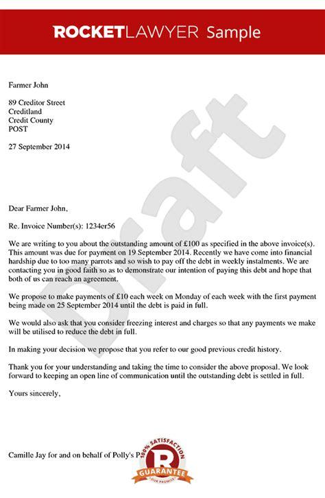 letter proposing  payment  instalments payment plan