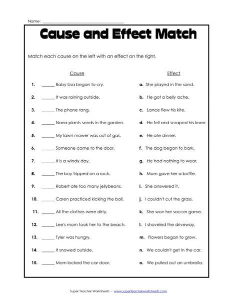 grade reading   effect worksheet grade