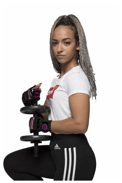 Elite Weight Lifting Gloves Commando Camp Pink