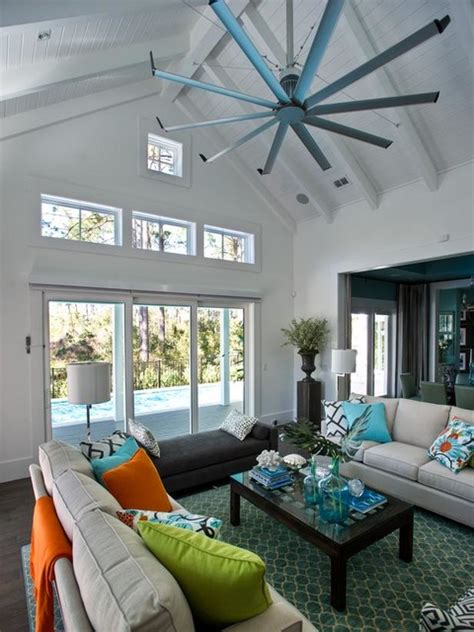 Big Living Room Fan by Ceiling Fan Contemporary Living Room