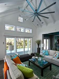 Isis ceiling fan contemporary living room for Ceiling fan for living room