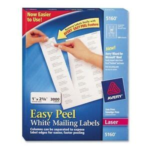 avery easy peel address labels for laser printers 5160