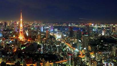 Tokyo Japan Night Skyline Cityscape Downtown Urban