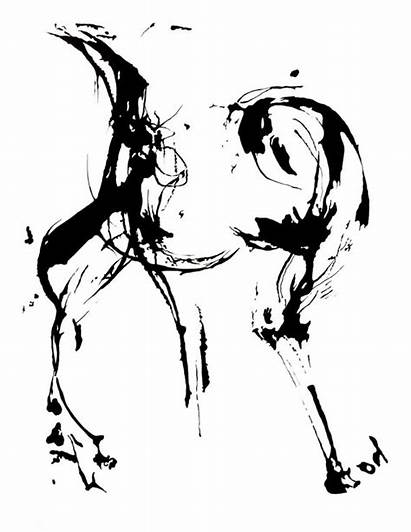 Drawing Abstract Human Figure Ink Dance Contemporary