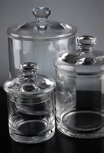 clear glass canisters for kitchen set of 3 clear glass apothecary canister jars 5 quot 7 quot 9 quot glass canisters