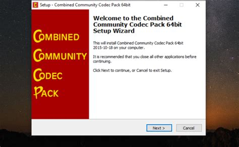 Codecs are computer programs that encode or decode videos, and different codecs work with various video formats. CCCP (Combined Community Codec Pack) Free Download for Windows 10 - 64/32 bit - latest