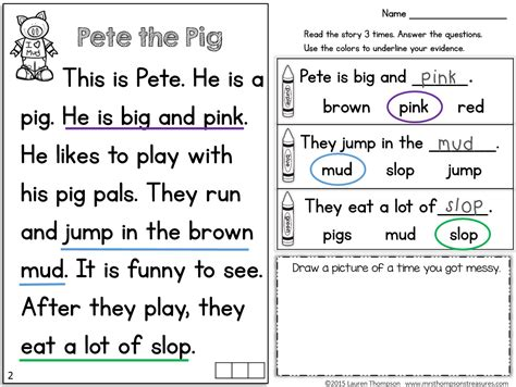 Reading Passages For Kindergarten Fluency Yachtarabellacom