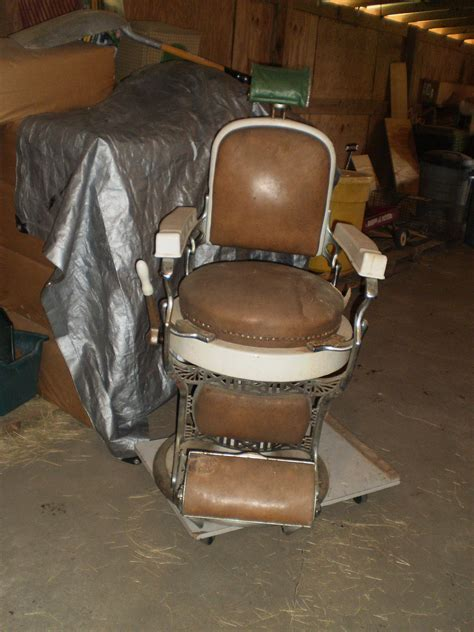 how do you find the age of an antique koken barber chair we