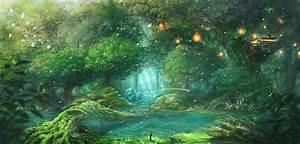 Anime Forest Background - WallpaperSafari