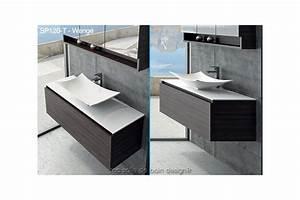 large meuble a tiroir de 120cm avec vasque coupelle design With salle de bain design avec meuble vasque 120 cm salle bain