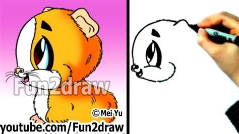 draw cartoon animals   draw  guinea pig