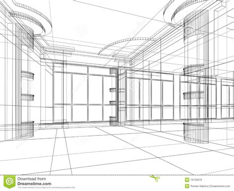 Architectural Abstract Sketch Royalty Free Stock Image