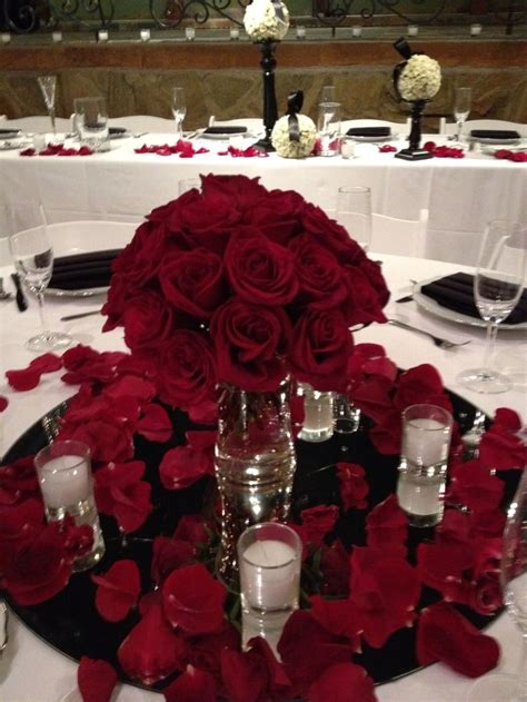 roses centerpieces ideas glamorous red rose centerpiece low centerpieces pinterest rose petals rose centerpieces